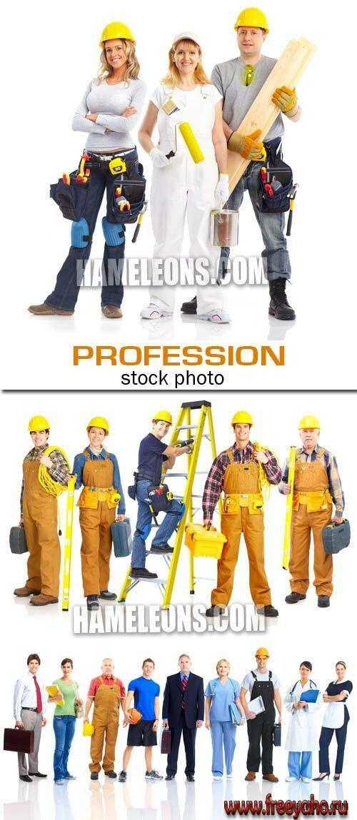 Разные профессии растровый клипарт