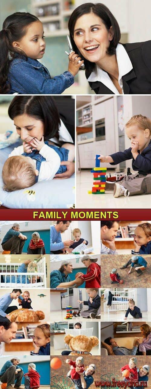 клипарт дети и родители: