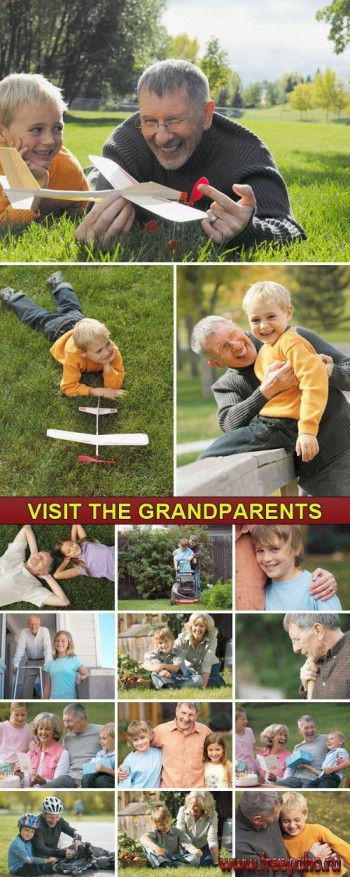 Дедушка и внуки - фотосток | Stock Photo - Visit the Grandparents