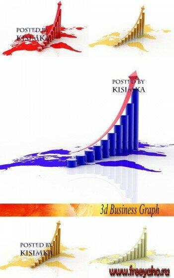 3d бизнес графики и диаграммы клипарт