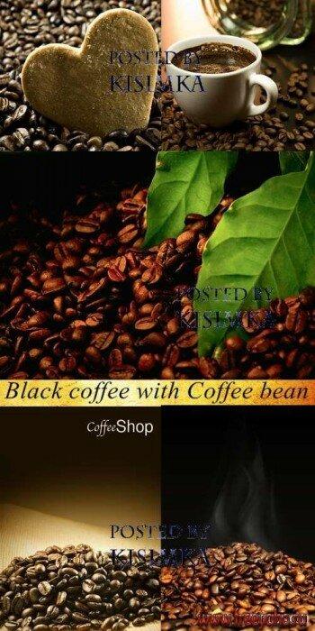 Кофейные зерна растровый клипарт