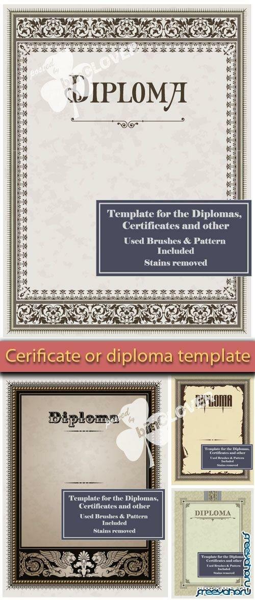 Векторные шаблоны diplomas and certificates