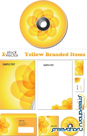 Yellow Branded Items Vector
