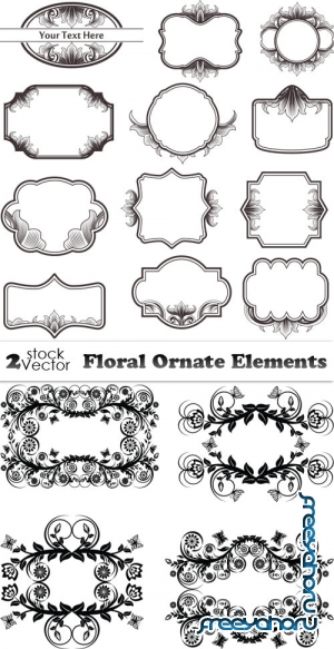 Vectors - Floral Ornate Elements