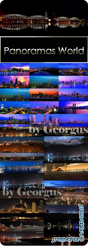 A large collection of beautiful cities in the world of night