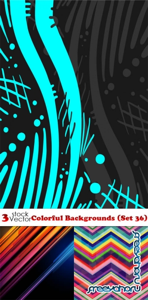Vectors - Colorful Backgrounds (Set 36)