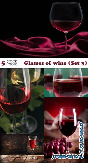 Photos - Glasses of wine (Set 3)