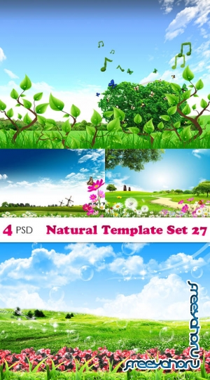 PSD - Natural Template Set 27