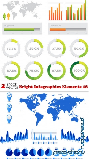 Vectors - Bright Infographics Elements 18