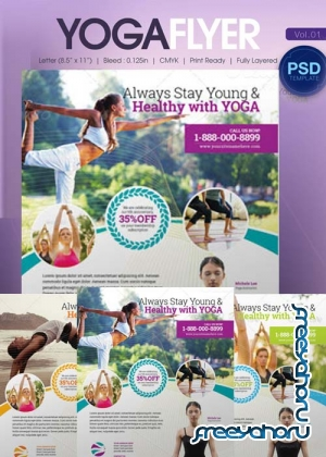 Yoga Flyer Bundle part1