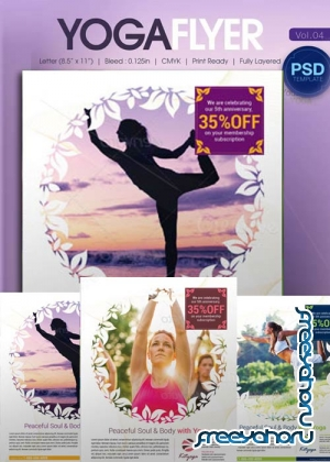 Yoga Flyer Bundle part 4