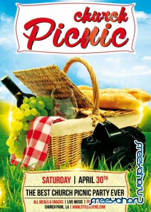 Church Picnic PSD Flyer Template