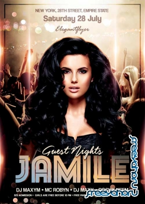 Guest Nights V1 Flyer PSD Template + Facebook Cover