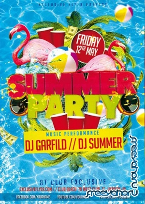 Summer Party V17 Premium Flyer Template