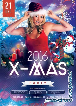 2016 X-Mas Party V8 PSD Flyer