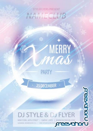 X-Mas Party 2017 PSD V18 Flyer