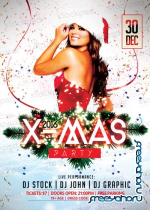 X-Mas Party 2017 PSD V17 Flyer