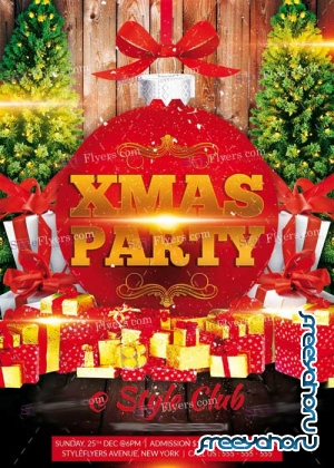 Xmas Party PSD V11 Flyer Template