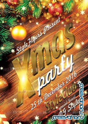 Xmas Party PSD V9 Flyer Template
