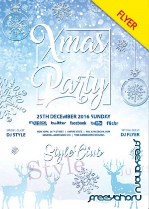 Xmas Party PSD V13 Flyer Template