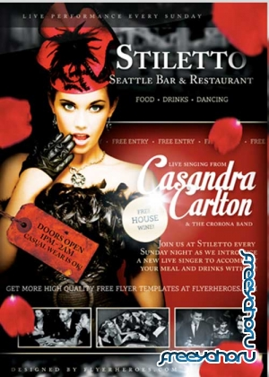 Stiletto Music V4 Flyer Template