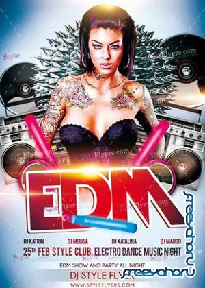 EDM PSD V17 Flyer Template