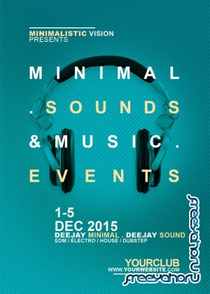 Minimal Sounds Music V10 Flyer Template