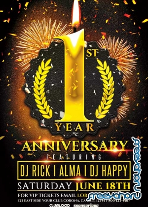 Anniversary Party V11 Flyer Template