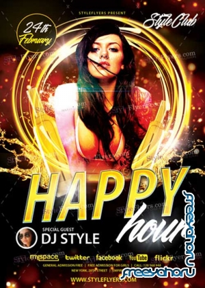 Happy Hour V14 PSD Flyer Template