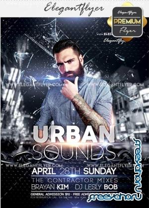 Urban Sounds V15 Flyer PSD Template + Facebook Cover