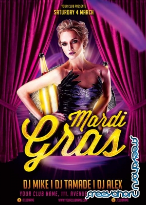 Mardi Gras Party V38 Flyer Template
