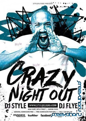 Crazy Night Out V11 PSD Flyer Template