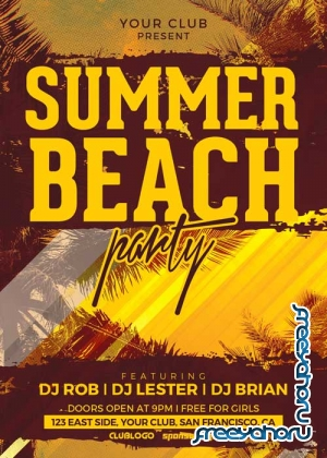 Summer Beach V28 Flyer Template