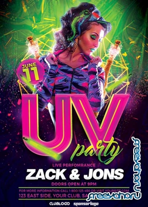 UV Party V14 Flyer Template