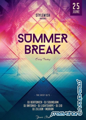 Summer Break V17 FlyerTemplate
