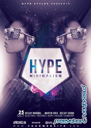 HYPE MINIMALISM V18 Flyer Template