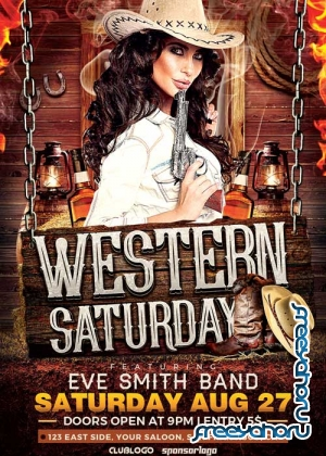 Western Saturday V21 Flyer Template