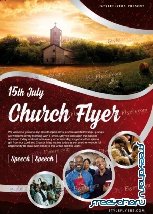 Church V24 PSD Flyer Template