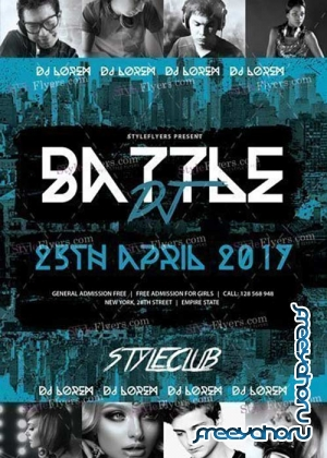Dj Battle V29 PSD Flyer Template