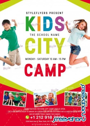 Kids City Camp V10 PSD Flyer Template