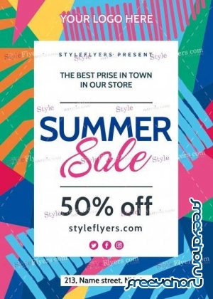 Summer Sale V16 PSD Flyer Template
