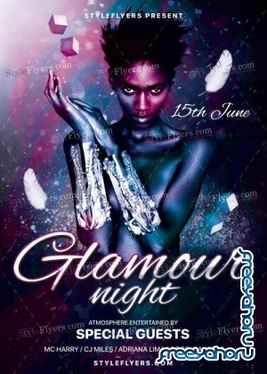 Glamour Night V12 PSD Flyer Template