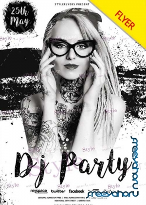 Dj Party V35 Psd Template