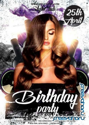 Birthday Party V25 PSD Flyer Template