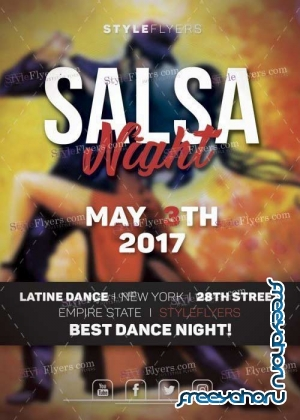 Salsa Night V26 PSD Flyer Template