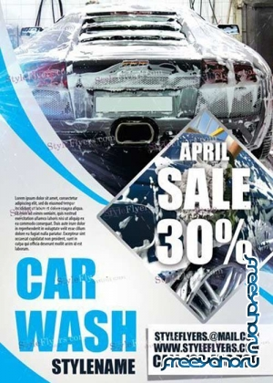 Car Wash V15 PSD Flyer Template