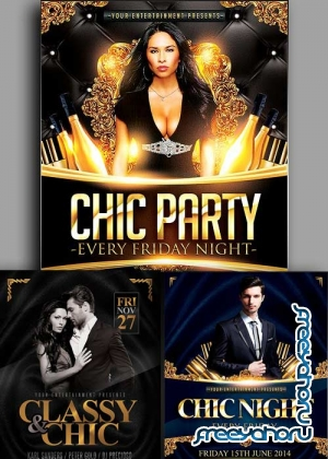 Chic Night 3in1 V1 Flyer Template