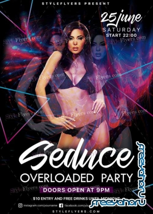Seduce Overloaded V1 Party PSD Flyer Template