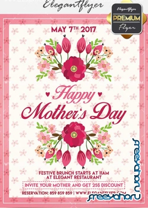 Mother Day V18 Flyer PSD Template + Facebook Cover