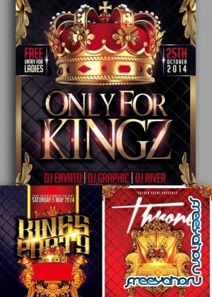 King Party 3in1 V1 Flyer Template